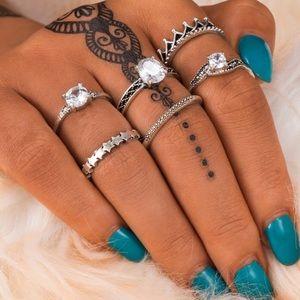 Jewelry - Royal Boho Midi Rings Set